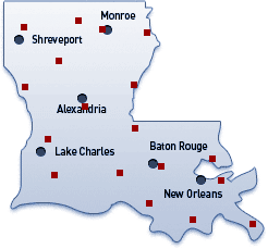 Louisiana Image Map